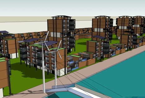 L'aménagement de l'éco-quartier 2