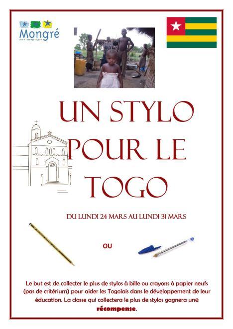 Un stylo pour le Togo affiche (3)